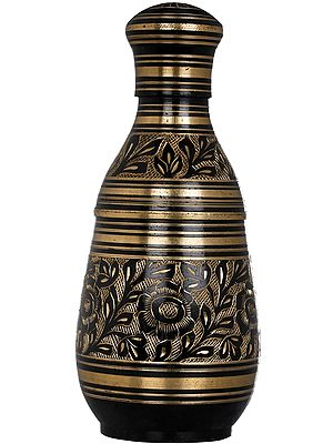 Decorated Bottle Which Opens at Two Places
