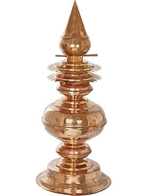 Large Copper Gopur Kalasha From South India