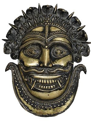 Serpents Crown Mahakala Mask With Serpents As Mustache