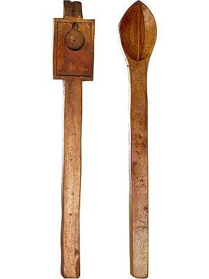 Homa Spoon Set for Vedic Sacrifices (Yajna)