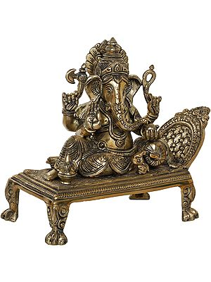 Cushion Ganesha Relaxing  On a Recliner