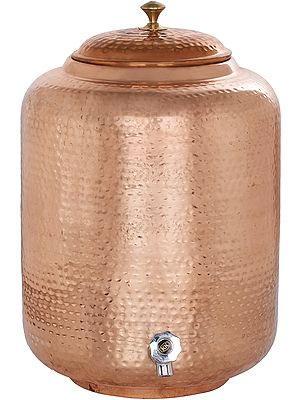Copper Container With Faucet