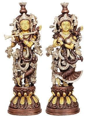 Adorned Radha Krishna