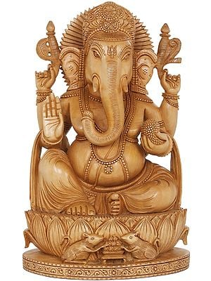 Ganesha On Lotus Seat