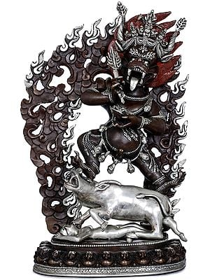 Tibetan Buddhist Deity Yamantaka- Made in Nepal