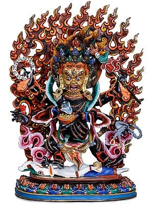 Six Armed Mahakala (Made in Nepal) Tibetan Buddhist Deity