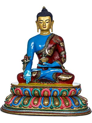 Medicine Buddha - Tibetan Buddhist (Made in Nepal)