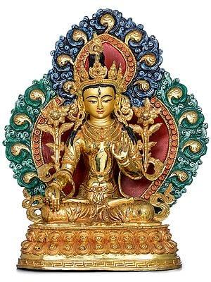 Superfine Goddess White Tara- Made in Nepal (Tibetan Buddhist)