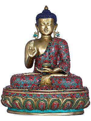 Tibetan Buddhist Lord Buddha in Preaching Mudra
