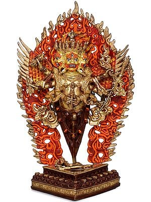 The Wrathful Tibetan Buddhist Heruka Vajarkila or Vajrakumara (Made in Nepal)