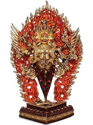 The Wrathful Tibetan Buddhist Heruka Vajarkila or Vajrakumara (Made in Nepal)