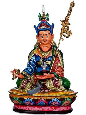 (Made in Nepal) Tibetan Buddhist Deity Padmasambhava or Rin Poche