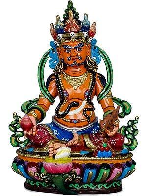 Kubera - Tibetan Buddhist God of Wealth and Prosperity (Made in Nepal)