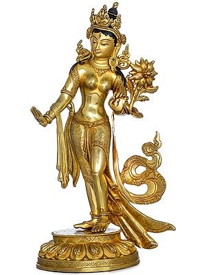 Superfine Standing Goddess Tara (Tibetan Buddhist) Made in Nepal