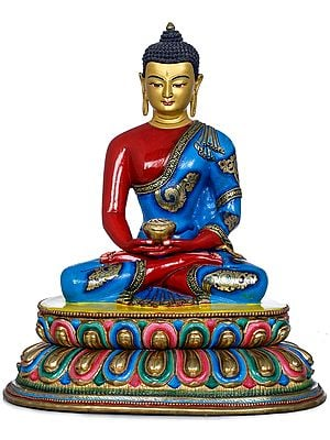 Tibetan Buddhist Lord Buddha With Begging Bowl -Made in Nepal