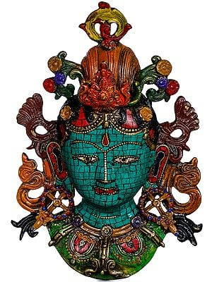 Goddess Tara Wall Hanging Mask - Made in Nepal