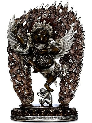 Dancing Garuda With One Leg Raised Up High (Tibetan Buddhist) Made in Nepal