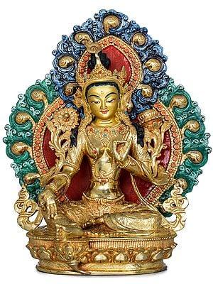 Superfine Tibetan Buddhist Goddess Green Tara - Made in Nepal