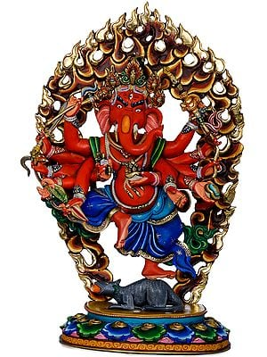 Superfine Twelve Armed Dancing Ganesha - Made in Nepal