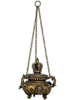 Mahakala Roof Hanging Incense Burner - Made in Nepal