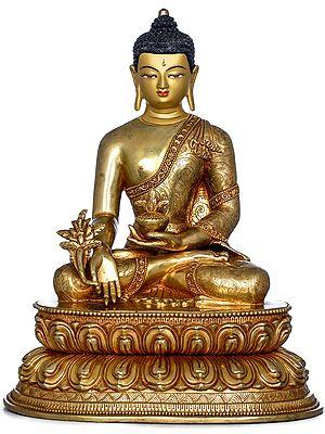 Medicine Buddha - Made in Nepal Tibetan Buddhist Deity