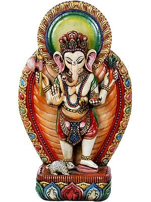 Standing Youthful Ganesha - Made in Nepal