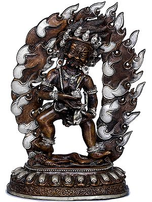 Tibetan Buddhist Standing Kubera - Made in Nepal