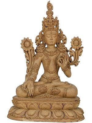 Sapta-Lochani White Tara Who Bestows The Special Gift of Long Life on Her Devotees