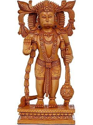 Standing Hanuman in Ashirwad Mudra