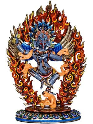 Tibetan Buddhist Dancing Garuda - Made in Nepal