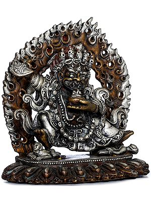 Tibetan Buddhist Wrathful Deity -Two Armed Mahakala (Made in Nepal)