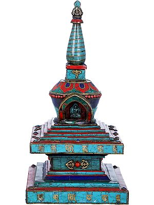 Tibetan Buddhist Chorten (Stupa) Made in Nepal