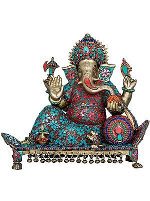 Ganesha Relaxing On a Recliner