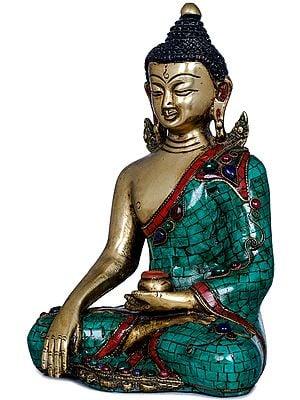 Lord Buddha in Earth Witness Gesture - Tibetan Buddhist