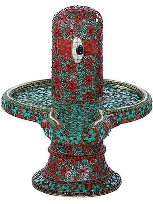 Beautifully Decorated Shiva Linga