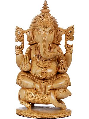 Ganesha Seated On His Vahana