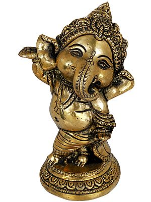 Adorable Baby Ganesha - Small Statue