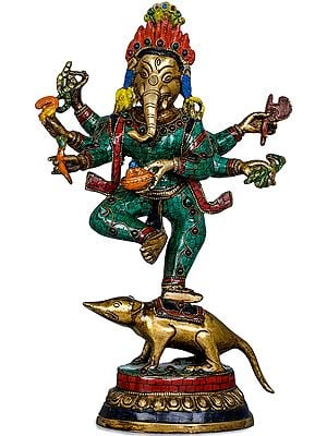 Six Armed Dancing Ganesha
