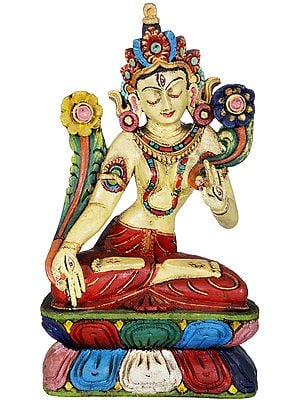 Tibetan Buddhist Goddess Green Tara - Made in Nepal