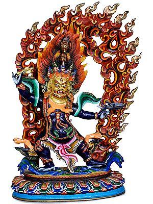 Tibetan Buddhist Deity Hayagriva - Made in Nepal