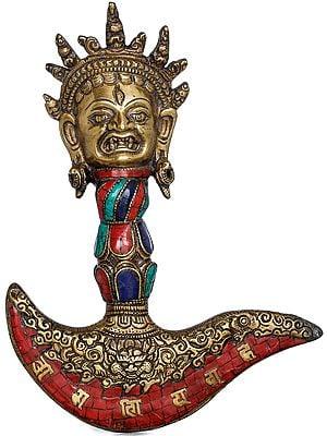 Tibetan Buddhist Mahakala Chopper