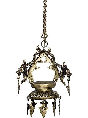 Dragons Roof Hanging Oil Lamp -Made in Nepal