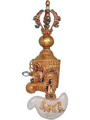 Tibetan Buddhist Makara Chopper With Vajra Handle - Made in Nepal