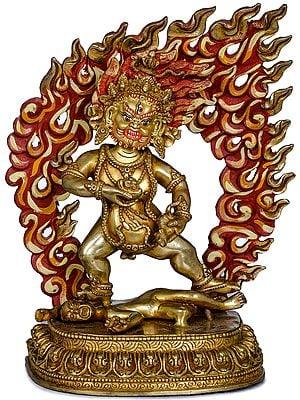 Tibetan Buddhist Standing Kubera - Made in Nepal