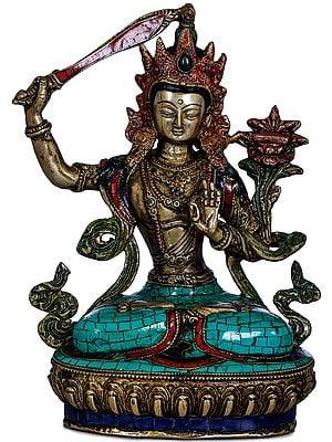 The Tibetan Buddhist Bodisattva of Wisdom -Manjushri
