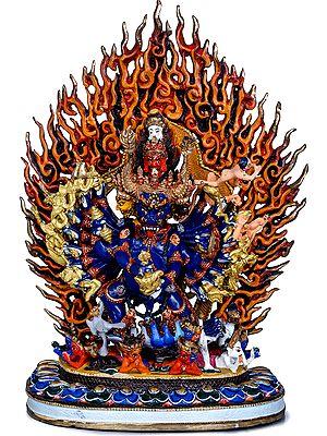 Tibetan Buddhist Vajrabhairava (Yamantaka) Ekavira - Made in Nepal