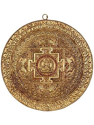 White Tara Mandala Wall Hanging Plate- Made in Nepal