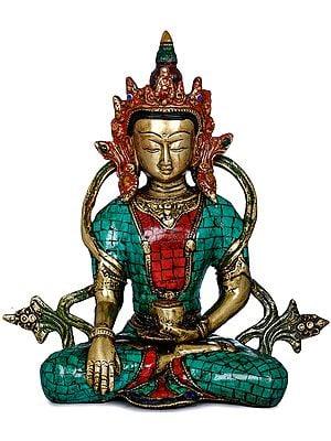 Crowned Shakyamuni Buddha - Tibetan Buddhist