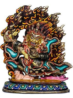 Tibetan Buddhist Two Armed Mahakala - Made in Nepal