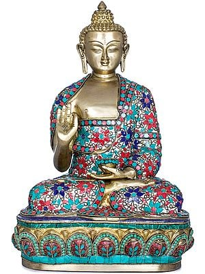Lord Buddha in Preaching Gesture - Tibetan Buddhist